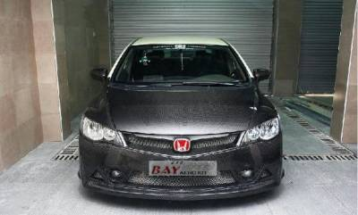 Civic 4Dr - Front Bumper - Bay Speed - Honda Civic 4DR Bay Speed JDM RR Front Bumper - CFRP - CF8224RR