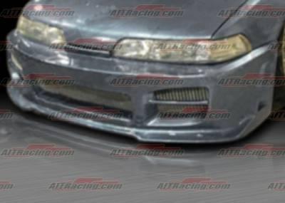 Integra 4Dr - Front Bumper - AIT Racing - Acura Integra AIT Racing R34 Style Front Bumper - AI90HIR34FB