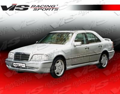 C Class - Front Bumper - VIS Racing - Mercedes-Benz C Class VIS Racing Euro Tech-2 Front Bumper - 94MEW2024DET2-001