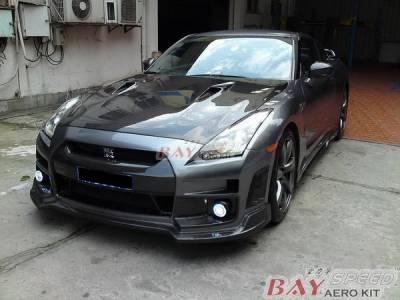 GT-R - Front Bumper - Bayspeed. - Nissan GTR Bay Speed Front Bumper - Carbon Fiber - CF8353BSE