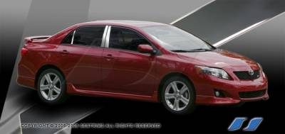 Corolla - Body Kit Accessories - SES Trim - Toyota Corolla SES Trim Pillar Post - 304 Mirror Shine Stainless Steel - 6PC - P208