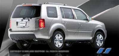 Pilot - Body Kit Accessories - SES Trim - Honda Pilot SES Trim Pillar Post - 304 Mirror Shine Stainless Steel - 6PC - P215