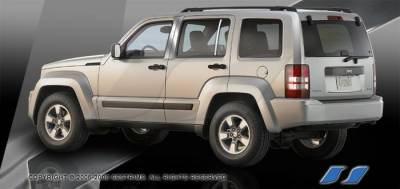 Liberty - Body Kit Accessories - SES Trim - Jeep Liberty SES Trim Pillar Post - 304 Mirror Shine Stainless Steel - 6PC - P218