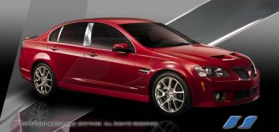 G8 - Body Kit Accessories - SES Trim - Pontiac G8 SES Trim Pillar Post - 304 Mirror Shine Stainless Steel - 6PC - P223