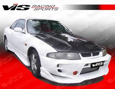 Skyline - Front Bumper - VIS Racing - Nissan Skyline VIS Racing Invader Front Bumper - 95NSR33GTRINV-001