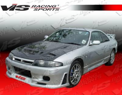 Skyline - Front Bumper - VIS Racing - Nissan Skyline VIS Racing JS Front Bumper - 95NSR33GTRJS-001