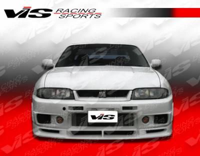 Skyline - Front Bumper - VIS Racing - Nissan Skyline VIS Racing Omega R400 Front Bumper - 95NSR33GTRR400-001