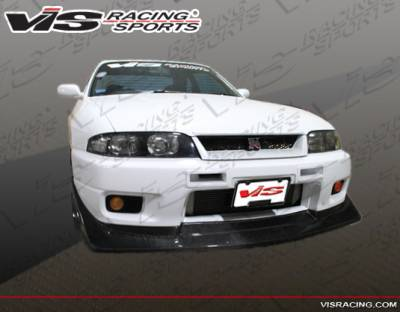 Skyline - Front Bumper - VIS Racing - Nissan Skyline VIS Racing V-Speed Carbon Fiber Lip - 95NSR33GTRVSP-011C