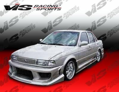 Sentra - Front Bumper - VIS Racing - Nissan Sentra VIS Racing Striker Front Bumper - 95NSSEN4DSTR-001