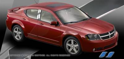 Accessories - Exterior Accessories - SES Trim - Dodge Avenger SES Trim Pillar Post - 304 Mirror Shine Stainless Steel - 4PC - P230