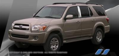 Sequoia - Body Kit Accessories - SES Trim - Toyota Sequoia SES Trim Pillar Post - 304 Mirror Shine Stainless Steel - 6PC - P237