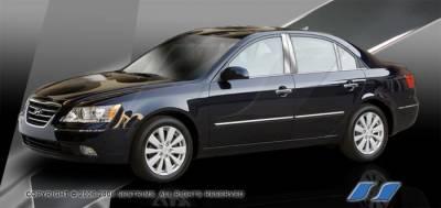 Sonata - Body Kit Accessories - SES Trim - Hyundai Sonata SES Trim Pillar Post - 304 Mirror Shine Stainless Steel - 6PC - P238