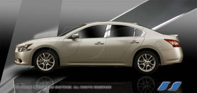 Maxima - Body Kit Accessories - SES Trim - Nissan Maxima SES Trim Pillar Post - 304 Mirror Shine Stainless Steel - 6PC - P240