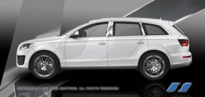 Q7 - Body Kit Accessories - SES Trim - Audi Q7 SES Trim Pillar Post - 304 Mirror Shine Stainless Steel - 8PC - P241