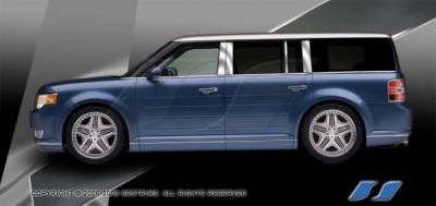 Flex - Body Kit Accessories - SES Trim - Ford Flex SES Trim Pillar Post - 304 Mirror Shine Stainless Steel - 8PC - P246