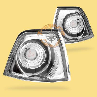 Headlights & Tail Lights - Corner Lights - Custom - Corner Signal Lights - Chrome