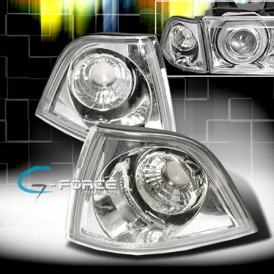 Headlights & Tail Lights - Corner Lights - Custom - GEFORCE Euro Corner Lights - Chrome