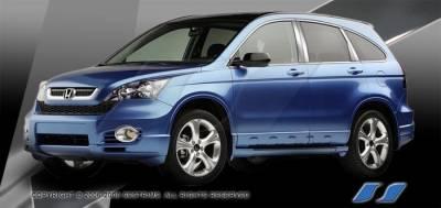 CRV - Body Kit Accessories - SES Trim - Honda CRV SES Trim Pillar Post - 304 Mirror Shine Stainless Steel - 8PC - P251