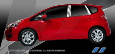 Fit - Body Kit Accessories - SES Trim - Honda Fit SES Trim Pillar Post - 304 Mirror Shine Stainless Steel - 6PC - P253