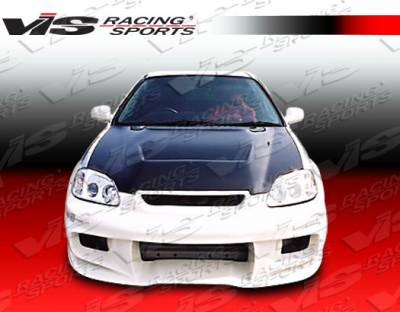 Civic 2Dr - Front Bumper - VIS Racing - Honda Civic 2DR & 4DR VIS Racing Wave Front Bumper - 96HDCVC2DWAV-001