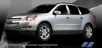 Traverse - Body Kit Accessories - SES Trim - Chevrolet Traverse SES Trim Pillar Post - 304 Mirror Shine Stainless Steel - 6PC - P255