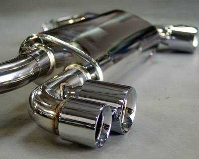 Exhaust - Custom Fit Exhaust - Agency Power - Porsche 911 Agency Power Exhaust Sytem with Stainless Mufflers - AP-996TT-170