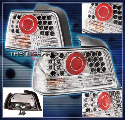 Headlights & Tail Lights - Led Tail Lights - Custom - LED Altezza Tail Light -  Clear- Chrome