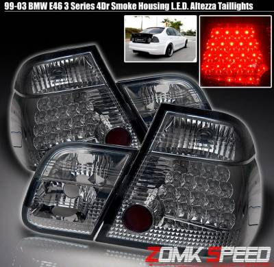 Headlights & Tail Lights - Led Tail Lights - Custom - LED Smoked Altezza Taillights - Chrome