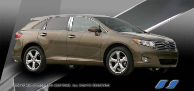 Venza - Body Kit Accessories - SES Trim - Toyota Venza SES Trim Pillar Post - 304 Mirror Shine Stainless Steel - 8PC - P263