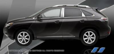 RX300 - Body Kit Accessories - SES Trim - Lexus RX SES Trim Pillar Post - 304 Mirror Shine Stainless Steel - 8PC - P266