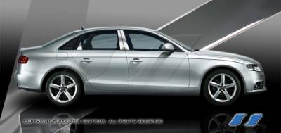A4 - Body Kit Accessories - SES Trim - Audi A4 SES Trim Pillar Post - 304 Mirror Shine Stainless Steel - 6PC - P267