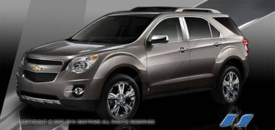 Equinox - Body Kit Accessories - SES Trim - Chevrolet Equinox SES Trim Pillar Post - 304 Mirror Shine Stainless Steel - 6PC - P268