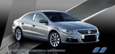 Passat - Body Kit Accessories - SES Trim - Volkswagen Passat SES Trim Pillar Post - 304 Mirror Shine Stainless Steel - 4PC - P272