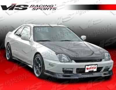 Prelude - Front Bumper - VIS Racing - Honda Prelude VIS Racing Type-S Carbon Fiber Lip - 97HDPRE2DSPN-011C