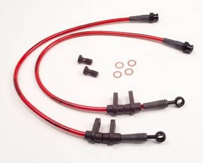 Agency Power - Honda S2000 Agency Power Steel Braided Brake Lines - Front - AP-AP1-405 - Image 1