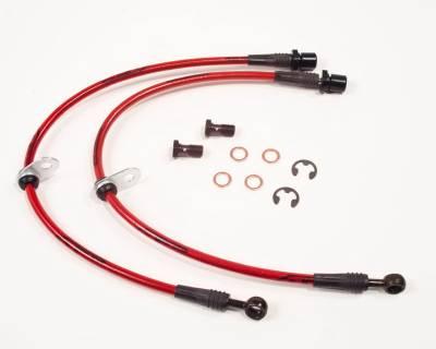 Agency Power - Subaru Legacy Agency Power Steel Braided Brake Lines - Front - AP-BL-405 - Image 1