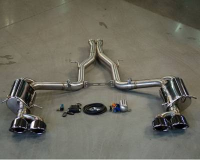 Exhaust - Custom Fit Exhaust - Agency Power - Mercedes-Benz C Class Agency Power Catback Exhaust System with Hardware & Remote - AP-C63-170