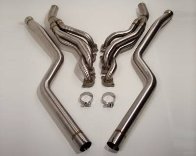 Exhaust - Headers - Agency Power - Mercedes-Benz C Class Agency Power Catless Headers & Section 1 Mid-Pipes - AP-C63-175