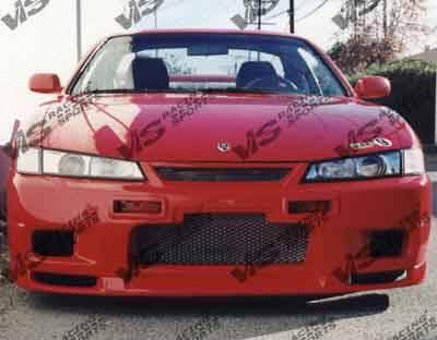 240SX - Front Bumper - VIS Racing - Nissan 240SX VIS Racing Omega Front Bumper - 97NS2402DOMA-001
