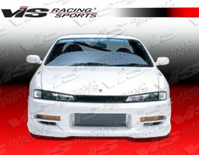 240SX - Front Bumper - VIS Racing - Nissan 240SX VIS Racing Spike Front Bumper - 97NS2402DSPK-001