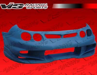 Integra 2Dr - Front Bumper - VIS Racing - Acura Integra VIS Racing Invader-6 Front Bumper - 98ACINT2DINV6-001
