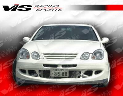 GS - Front Bumper - VIS Racing - Lexus GS VIS Racing Alfa Front Bumper - Carbon Fiber - 98LXGS34DALF-001C