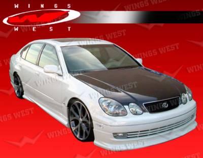 GS - Front Bumper - VIS Racing - Lexus GS VIS Racing JPC Type A Front Lip - Polyurethane - 98LXGS34DJPCA-011P