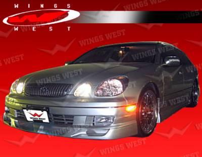 GS - Front Bumper - VIS Racing - Lexus GS VIS Racing JPC Type B Front Lip - Polyurethane - 98LXGS34DJPCB-011P