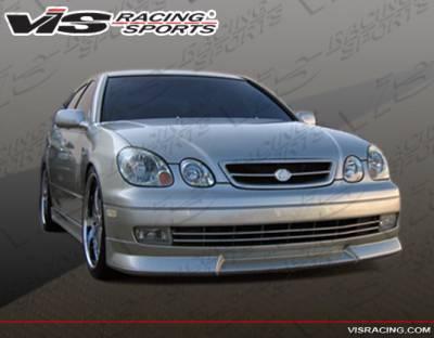 GS - Front Bumper - VIS Racing - Lexus GS VIS Racing Wize Front Lip - 98LXGS34DWIZ-011