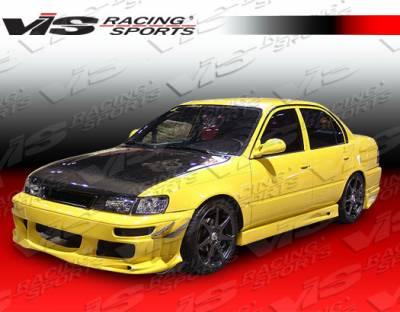 Corolla - Front Bumper - VIS Racing - Toyota Corolla VIS Racing Ballistix Front Bumper - 98TYCOR4DBX-001