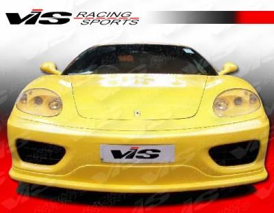 360 - Front Bumper - VIS Racing - Ferrari 360 VIS Racing J Tech Front Lip - 99FR3602DJTH-011
