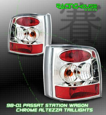 Headlights & Tail Lights - Tail Lights - Custom - Passat Wagon Euro Tail Light Chrome