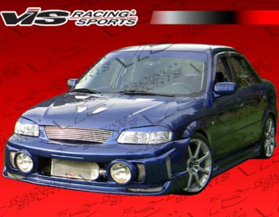 Protege - Front Bumper - VIS Racing - Mazda Protege VIS Racing EVO-2 Front Bumper - 99MZ3234DEVO2-001