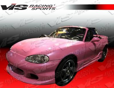 Miata - Front Bumper - VIS Racing - Mazda Miata VIS Racing Ballistix Front Bumper - 99MZMX52DBX-001
